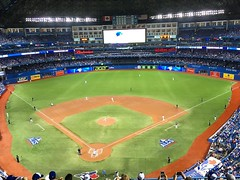 October 17, 2016 - 21:35 - ALCS game 3 (home game 1).  #bluejays #Indians #toronto #cleveland #baseball #beisbol #mlb #postseason #theshow #majorleaguebaseball #ontario #canada #Canada #fun #game #sports #524 #sth #seasontickets #stroshow #stroman #marcus #game3 #alcs #pitching #hi