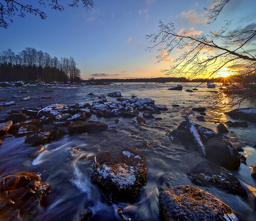 slow motion river ahvionkoski anjala finland laowa 15mm sunset
