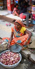 People at market in Bodhgaya, India