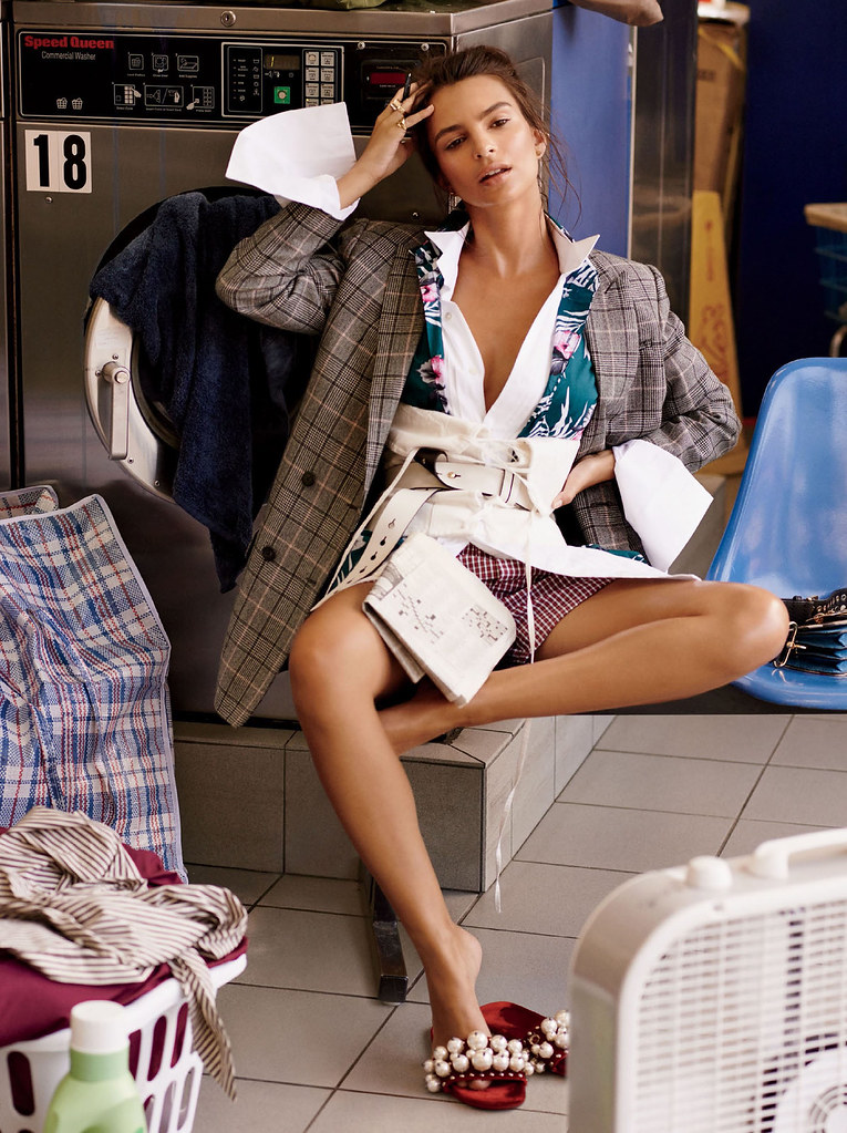 Эмили Ратайковски — Фотосессия для «Glamour» 2016 – 2