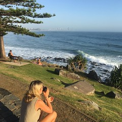 #perfect morning to watch #surf #goldcoast #heaps of #surfers out #beachlife #cyclinglife #cycle #cycling #niceday