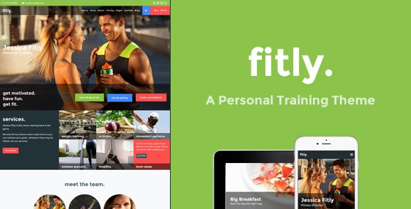 Fitly v1.1.0 - A Personal Training WordPress Theme