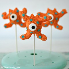 Gluten free orange monster cake pops
