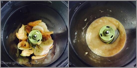 Chikoo banana mash - step 2