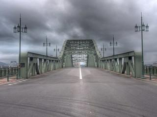 Asahibashi Bridge, Asahikawa on AUG 21, 2015 (5)