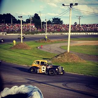 Saturday night racing! #8 #uslegendscars #inex #HooliganMotorsports #uslegends #racecar #racetrack #Maine #racing #LegendsRacing #legendscars #newengland #nelcar