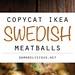 Swedish Meatballs Re