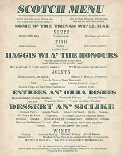 Scotch Menu
