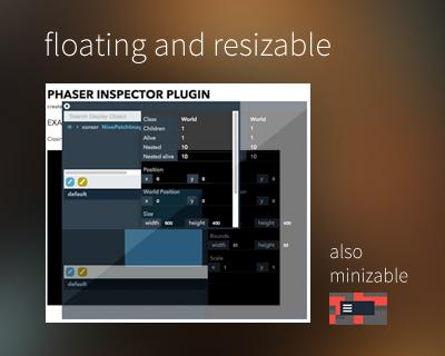 Floating, resizable and minimizable