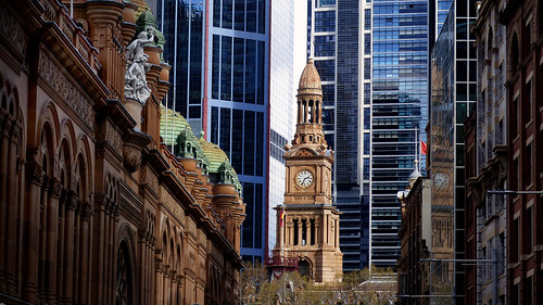 Sydney Town Hall clock tower.