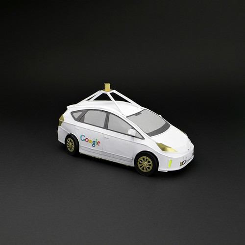 Google Car Paper Model by Ollanski and Cris