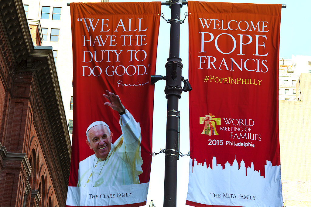 Pope Francis WE ALL HAVE THE DUTY TO DO GOOD--Center City
