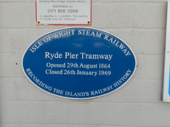 Photo of Ryde Pier Tramway blue plaque