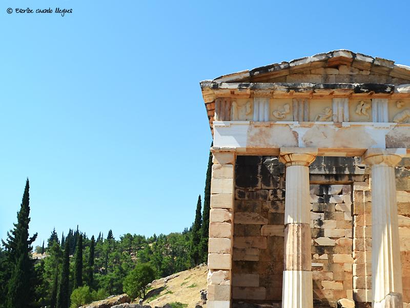Uno de los denominados Tesoros de Delfos, donde se custodiaban las ofrendas para los oráculos