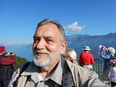 A selfie on the Terrace towards Lake of Brienz