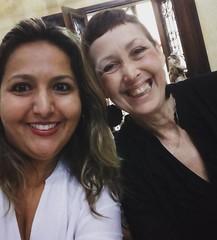 Minha amiga e eterna mestra universitária Sandra Regina Pícolo, almoçando juntas. Que alegria! Ela aprendeu comunicação com Reinaldo Polito e eu aprendi com ela. #entrevista #programa