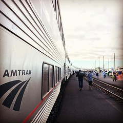 A long but rather pretty trip by sleeper train from SF to Portland. Still feeling the rocking of the train - or that might just be Oregon's finest beers . . #SanFrancisco #California #Portland #Oregon #sleepertrain #Amtrak #coaststarlight #train #rail #U