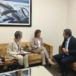 Encuentros Bilaterales con la Sec. Ejecutiva de la CEPAL y cancilleres de Argentina, de Colombia y de Portugal.