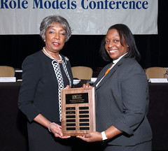 Andrea D. Mickle, president, Minority Access, Inc. (on left) is pictured with Dr. Jovette Dew.