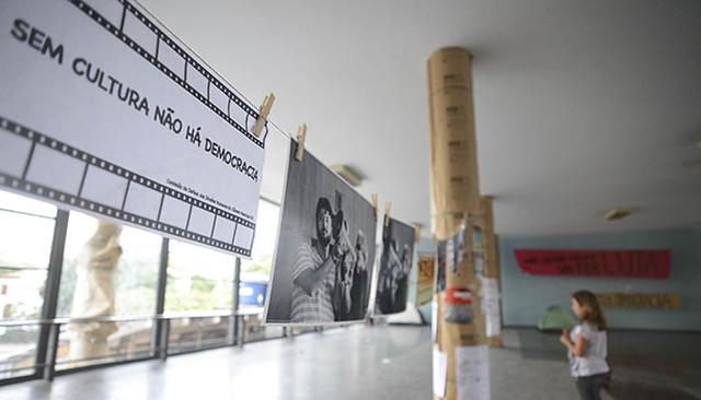 Ocupação do prédio do Ministério da Cultura, no Rio de Janeiro - Créditos: Tânia Rêgo/ Agência Brasil