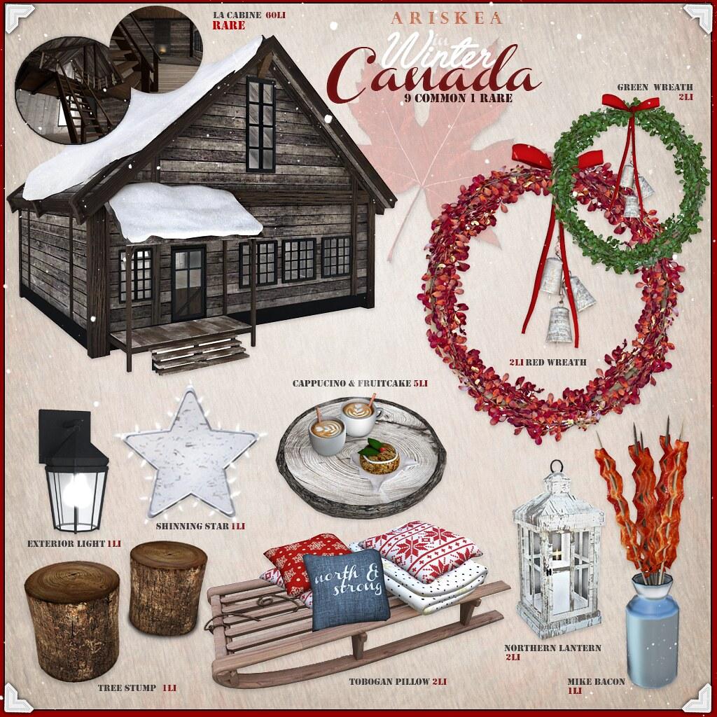 The Arcade December 2016 - Winter in Canada - Ariskea - SecondLifeHub.com