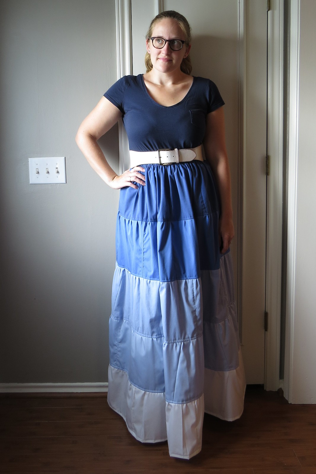 Ombre Tiered Skirt - After