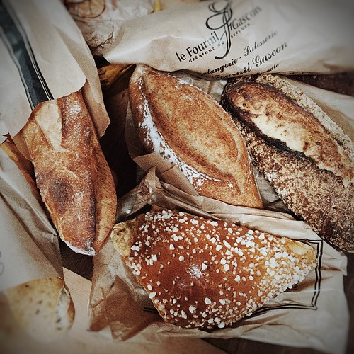 And what would dinner be without a little nod to #Lammas. Beautiful bread from Casteljaleaux. #France #restday