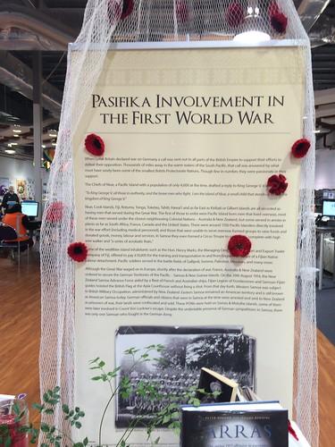 Pasifika involvement in the First World War display
