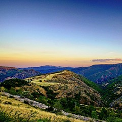 Same #surreal #sunset #landscape in #cevennes national park  But with a different camera.   #mountains #gard #languedoc #france #beautifulfrance #magnifiquefrance #magichour