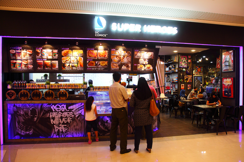 DC Comics Super Heroes Cafe @ Sunway Putra Mall, KL