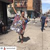 How did we miss this on FDB? We are practically in front of @melbasharlem all day! @tamronhall with @repostapp This is fun day on a Sunday #Harlem