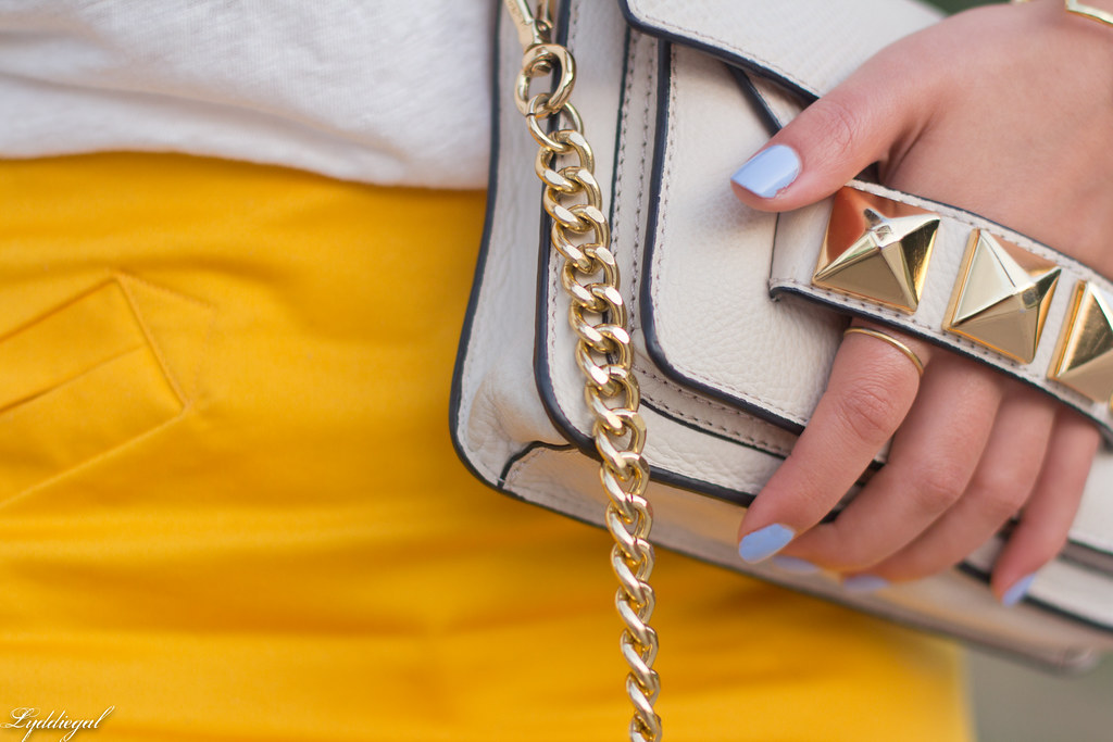 ampersand tee, yellow pencil skirt, studded bag-9.jpg