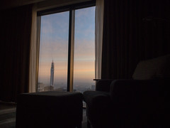 Hotel room and window