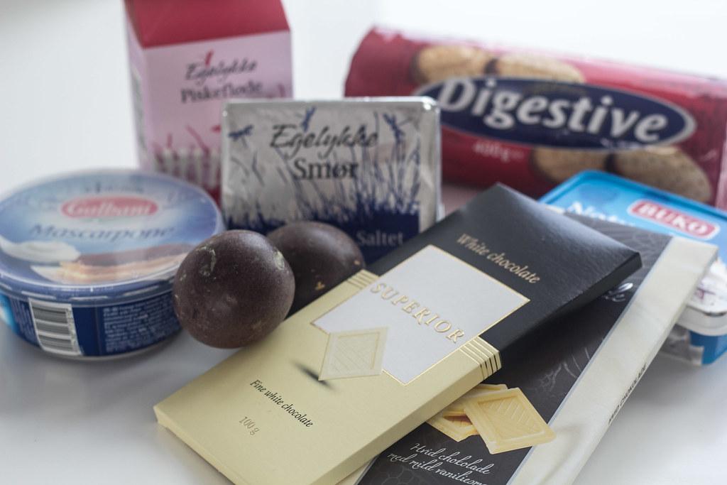 Cheesecake med hvid chokolade og passionsfrugt (1)