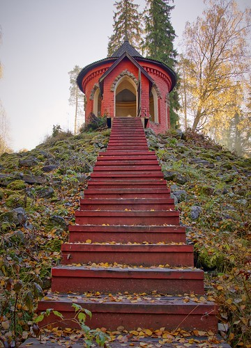park travel autumn trees roof summer building tree history fall nature beautiful grass stone architecture finland garden season landscape outside outdoors construction ancient scenery colorful view empty traditional peaceful tranquility sunny scene location gazebo serenity dome pavilion relaxation summerhouse tranquil circular scenics touristic landscaped aulanko
