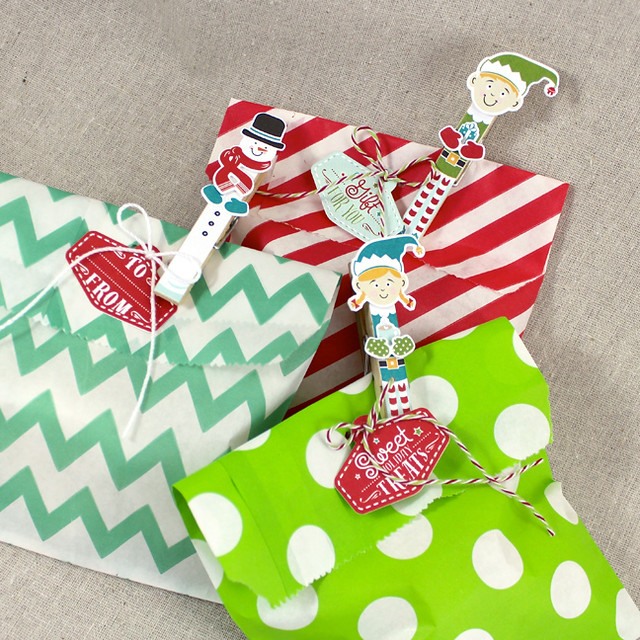 Holiday Pin Ups Treat Bags