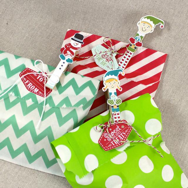 Holiday Pin Ups Treat Bags