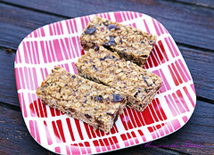 Chewy Banana Chocolate Peanut Butter Oat Bars