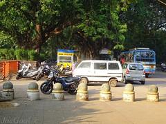 Parking on footpath