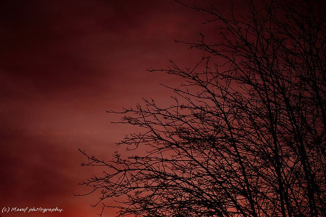 Sunset sky over Morley (Leeds) 3.