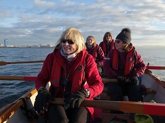 Rowing past Rosyth