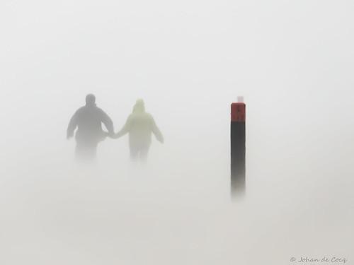 Hand in hand through a sandstorm