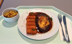 Sailsbury steak gratinated with tomato & ham w…