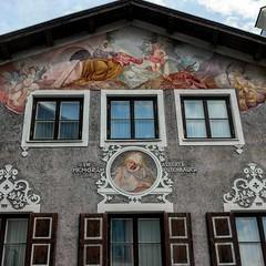 Lüftlmalerei in Garmisch-Partenkirchen, Gruß an @reinhard_garmisch