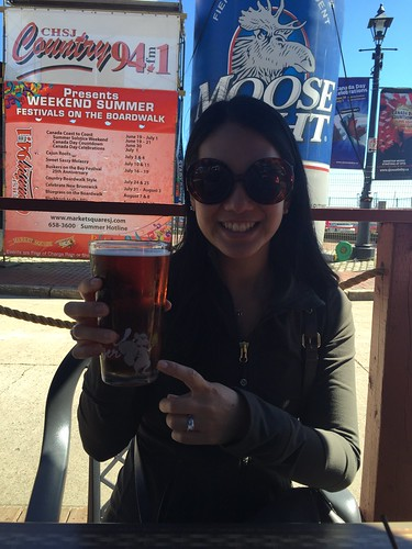Mei and her barking squirrel beer.