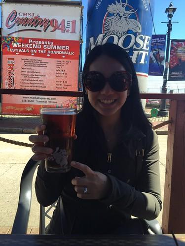 Mei and her barking squirrel beer.