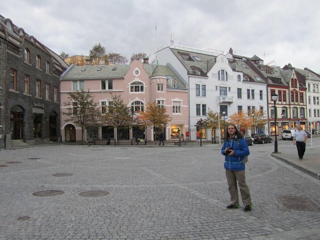 La animada plaza de la ciudad