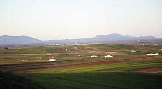 Vista de Belalcázar desde Hinojosa del Duque