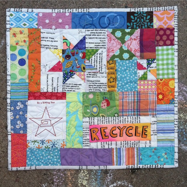 This is my favorite #miniquilt that I've ever made. A few years ago @mamasaidsew and @tinkerfrog hosted a contest to win a spot in a retreat led by @crazymomquilts. The challenge was to make something using scraps. That's my favorite kind of project! All