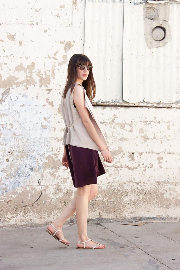 Asymmetrical vest, Everlane, Summer Outfit